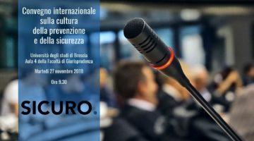 Convegno Prevenzione e eSicurezza sul Lavoro Università di Brescia facoltà di Giurisprudenza